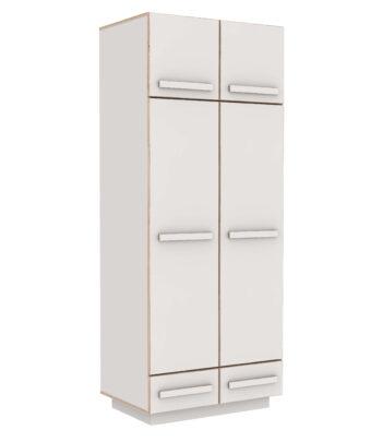 WARDROBE BOXY WITH EXTRA LEVEL WHITE CPL