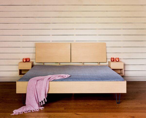 Radis bed BOXY oak veneered