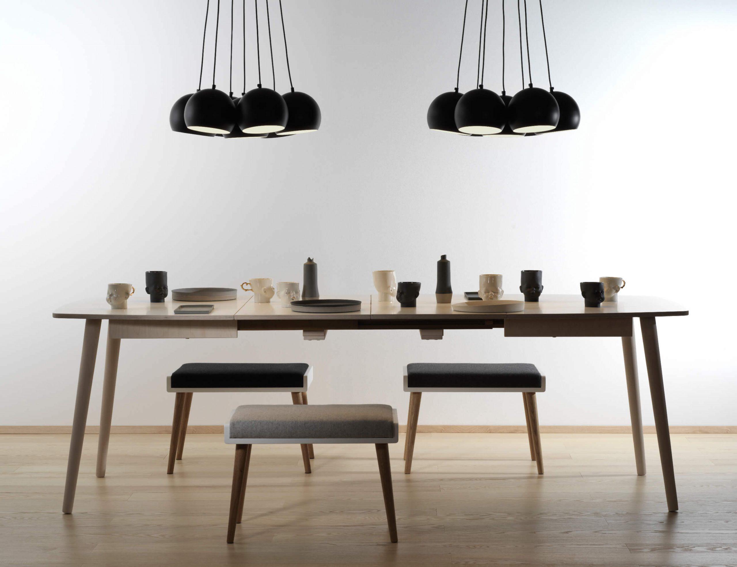 EXTENDABLE DINING TABLE NAM-NAM 120X120/220 cm