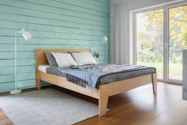 BED HUH OAK VENEERED