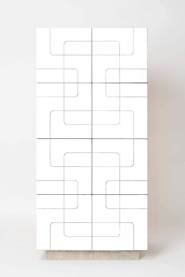 SIDEBOARD MUSTER DOORS WHITE CPL