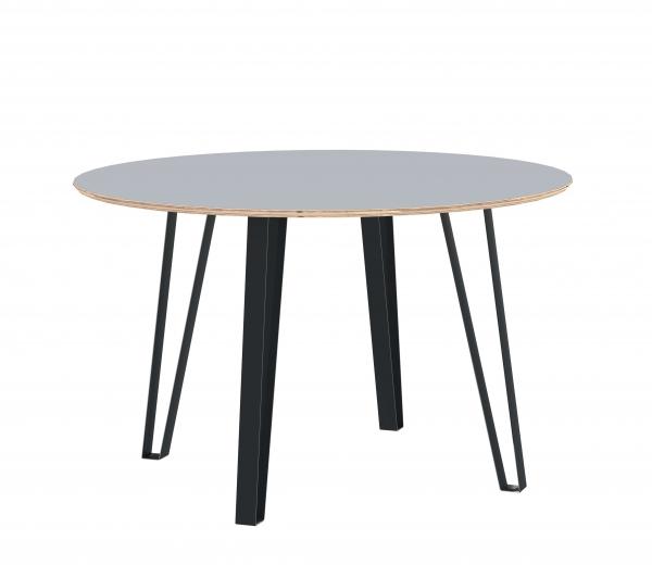 ROUND DINING TABLE VISTA 125 cm LIGHT GREY HPL