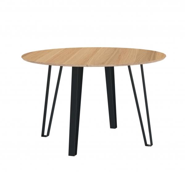 ROUND TABLE VISTA 125cm OAK VENEERED
