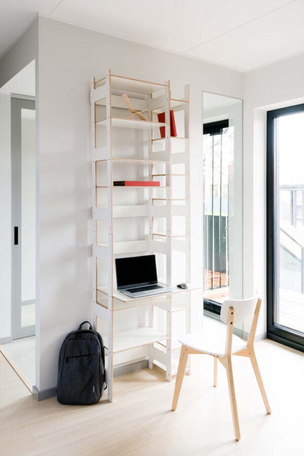 Home Office LIFT white film plywood